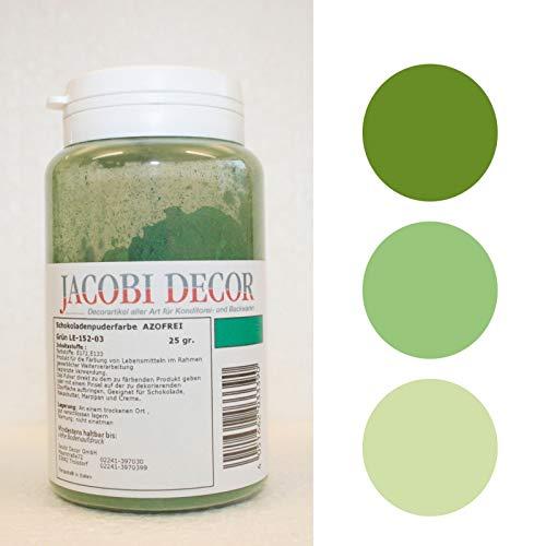 Puderfarbe grün, 25 gr, Azofrei