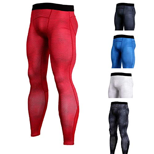Shuangklei MenCompression Tight Leggings Running Pants Gym Fitness Jogging Trousers Bodybuilding Training Workout Sport Bottoms Tights-2_XXL
