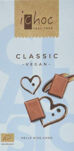 ichoc Classic Helle Rice Choc  vegan, 5er Pack (5 x 80 g)