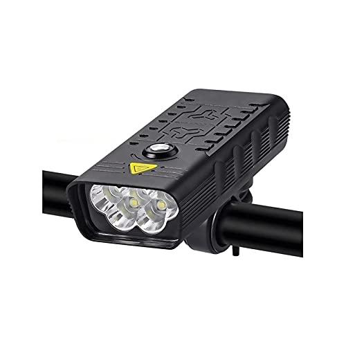 WGLL Luces de Bicicleta, luz Delantera Super Brillante de la Bicicleta 3000 Lumen, IPX5 Impermeable 4 Modos de Ciclismo luz Linterna antorcha con USB Recargable