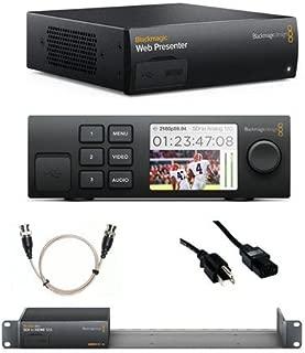 Blackmagic Design Web Presenter - Bundle Teranex Mini Smart Panel, 6' Standard PC Power Cord, 24in Thin Gauge BNC Male to BNC Male SDI Cable, 1RU Teranex Mini Rack Shelf