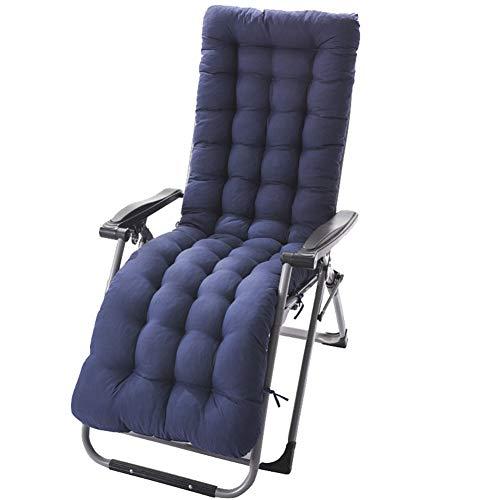 HotYou Cojín para Tumbona sillón reclinable Lounge de Almohadilla para Patio jardín Hamaca al Aire Libre Cubierta,Armada,155 * 48 * 8 CM