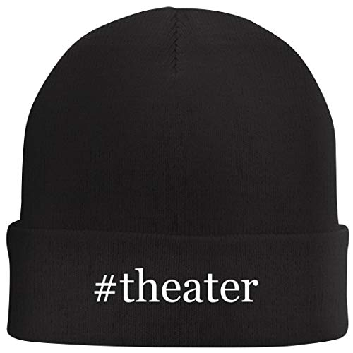 Tracy Gifts #Theater - Hashtag Beanie Skull Cap with Fleece Liner, Black, One Size
