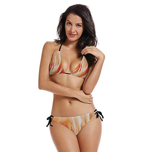Rose Blooms,Women's Bikini Set Two Piece Swimsuits