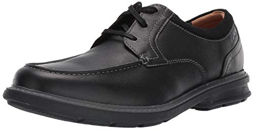 Clarks Men's Rendell Walk Oxford, Black Leather, 100 M US