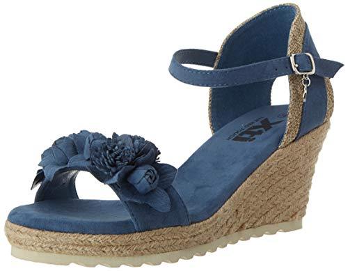XTI 44021.0, Sandalias con Plataforma para Mujer, Azul (Jeans Jeans), 36 EU