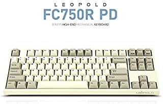 Leopold FC750R PD 87keys High-end Mechanical Keyboard MX Cherry Switch 1.5mm PBT (White/Grey, Red Switch)