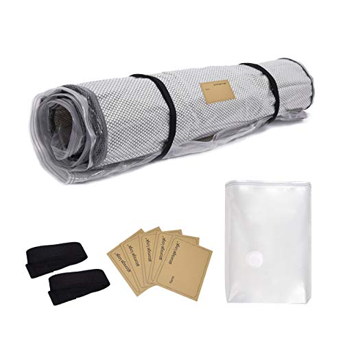 Foam Mattress Vacuum Bag (Queen/Full/Full XL) with Straps and 5 Name Tag Stickers, Moving, Sealable Bag for Mattresses, Double Zip and Leakproof Valve