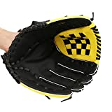Baseball Glove Sports Batting Gloves Catcher's Mitt with PU Leather for Adult Youth Teenager Children (11.5 inch-Yellow)
