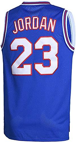 ALXLX 23# Camiseta de baloncesto para hombres y mujeres, Space Movie Jersey de baloncesto de los años 90, Hip Hop, ropa para fiestas, azul - XXL