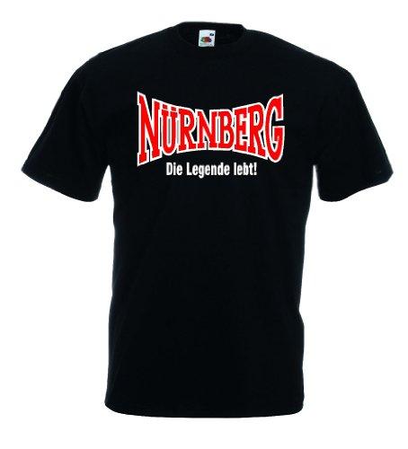 World-of-Shirt Herren T-Shirt Nürnberg Ultras Die Legende lebtL
