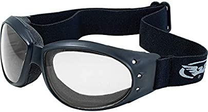 Global Vision Eliminator Motorcycle Goggles (Black Frame/Clear-Smoke Lens)