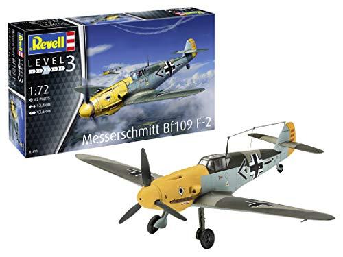 Messerschmitt BF 109F-2 vliegtuig Zonder lijm, Verf & Borstel Diverse