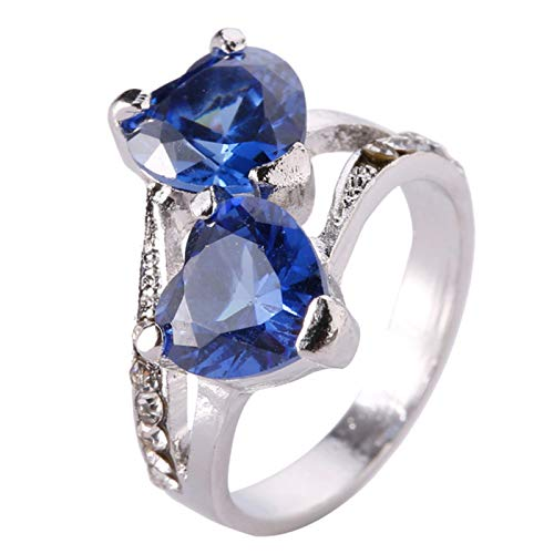 heaven2017 Fashion Heart Shaped Band Rings,CZ Promise Ring Wedding Rings for Women Girls Anniversary Valentine's Day…