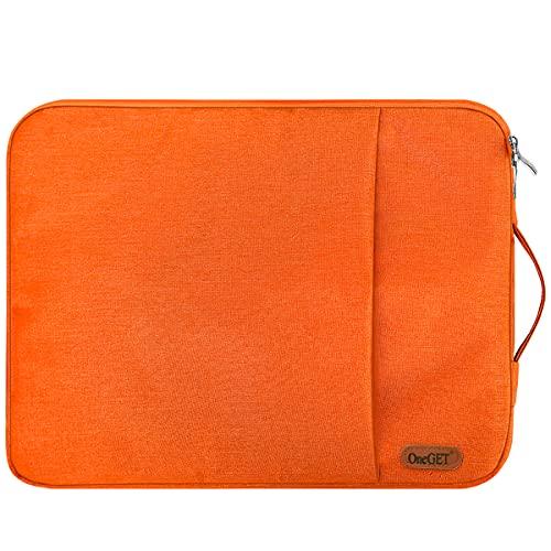 OneGET Funda para portátil compatible con MacBook Pro de 15 a 15,6 pulgadas, portátil, poliéster vertical brillante, bolsa de acuarela con bolsillo (15,6 – 16 pulgadas, Amnerglow)