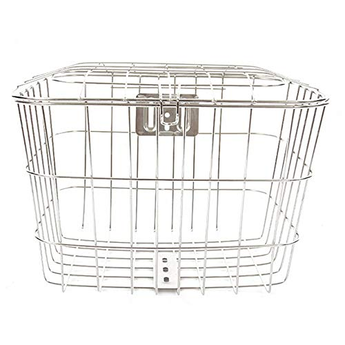 Fantastic Deal! ChenyanAwesom Bike Baskets Bicycle Stainless Steel Front Basket Safely Assembled Gri...