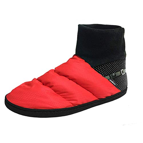 LETTON Down Shoes Winter Warm Women Men Snow Boots for Outdoor Mountaineering, Hiking and Camping/Indoor Non-Slip Slippers(Women US 8.5-9.5/Men US 7-8, Red)