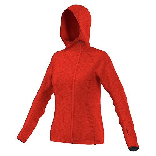 adidas Damen Kapuzen Fleecejacke Climaheat Jacke, Orange, 38