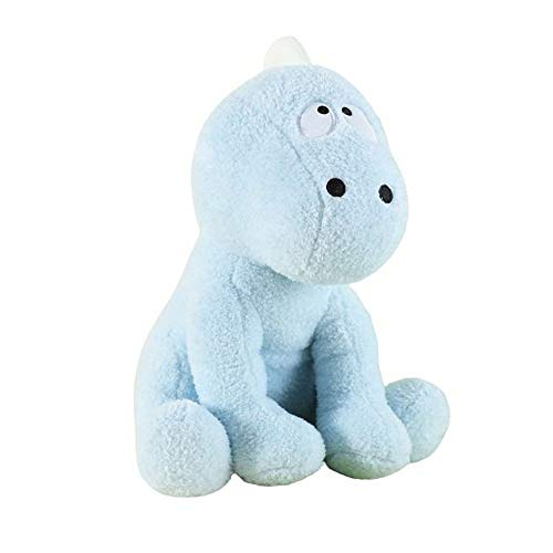 Little Room Naturally Glow in The Dark Dinosaur Stuffed Animal Plush Toy, 14 Inches, Blue (L1000)