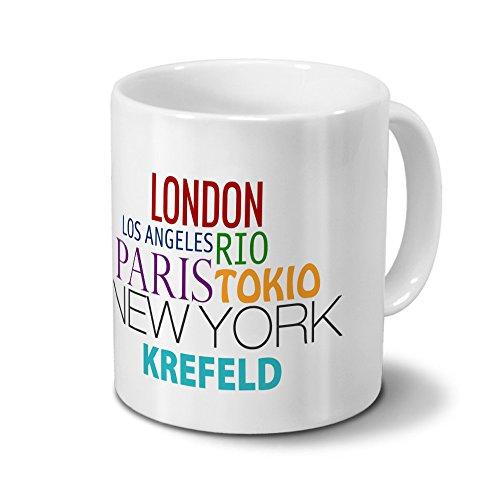 digital print Städtetasse Krefeld - Design Famous Cities in the World-Design