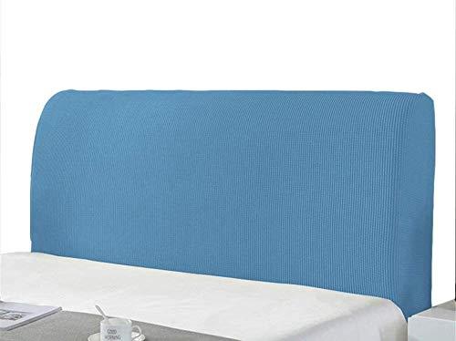 KJHG Copertura Testiera Letto,Copri Testata Letto Fodera Elastica Vello Protezione Testata Matrimoniale Cover Cuscino Lavabile per Decorazione Camera (Color : Azzurro, Size : 150-170cm)