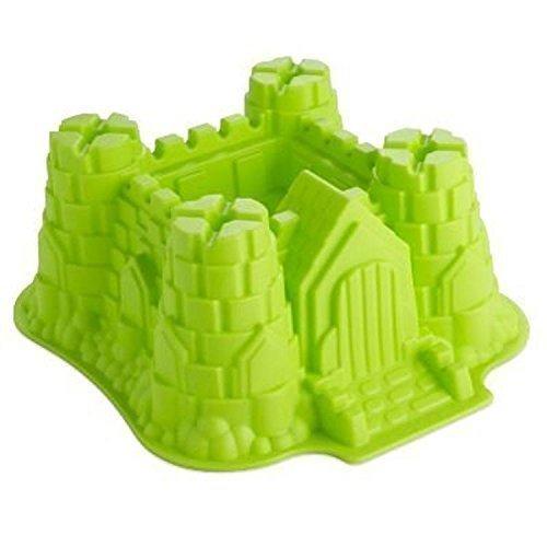GMMH Original Silikonbackform Burg klein Kuchen Backform Kuchenform Brotbackform Obstbodenform (grün)