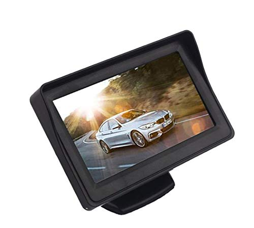 AutoBizarre 4.3 inch Dashboard Standing LCD TFT Monitor Display for Car Dashboard - Useful for Reverse Parking Camera Output or Any Video Output