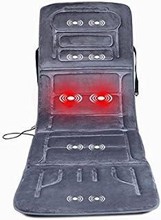 AMYMGLL Almohadilla de masaje de vibración almohadilla de masaje corporal con calor (automotriz, de doble uso, 10 motor) caliente vibrante gris oscuro beige , Dark gray