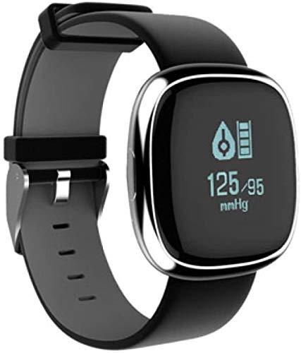 Reloj médico inteligente de frecuencia cardíaca, pulsera de presión arterial, monitoreo de pulso, sueño, WeChat, moda, contador de pasos, color negro