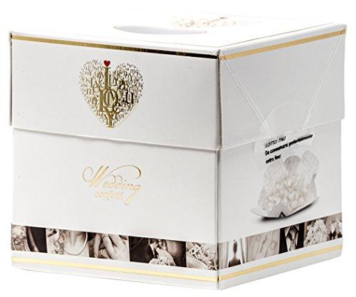 Buratti Confetti alla Mandorla Ricoperta di Cioccolato, Tenerezze Vassoio Bianco - 500 g