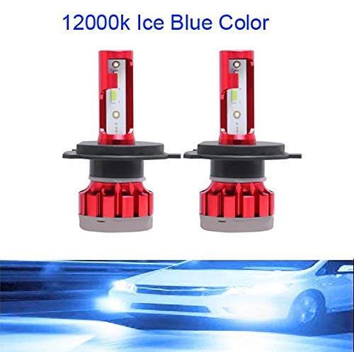 2pcs luces de coches LED H7 12000LM H4 Lámpara LED para bombillas de faros del coche H11 HB2 H8 H9 9005 9006 HB3 HB4 Turbo H1 Bulbos LED 12V 24V (Emitting Color : 12000K, Socket Type : H3)