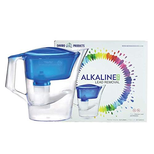 New Wave Enviro Alkaline Water Filter Pitcher Plus– Removes Lead and Bacteria