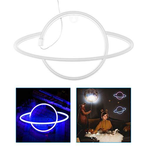 Sunsbell Led Planet Neon Letrero de Pared de Neón Impermeable Y a Prueba de Herrumbre Luces de Neón Colgantes para La Pared de La Habitación Dormitorio de Los Niños Fiesta de Cumpleaños