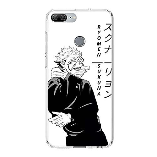 DingHome Luokaoo Anime Jujutsu Kaisen Funda telefónica para teléfono 1 Ultra TPU Transparente Silicona Gel Gal Gever Cover Coque Silikon (Color : 9, Tamaño : For ipone XSMAX)