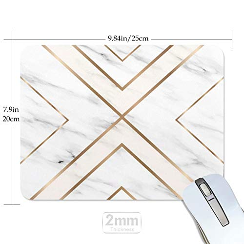 Mouse Pad White Chic Pattern Cute Desk Mousepad Non-Slip Rubber Custom Computer Accessories Gaming Mouse Pad Rectangle Mouse Pads for Home and Office Work Photo #3