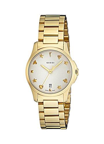 Gucci Damen Datum klassisch Quarz Uhr mit Paqué or Armband YA126576