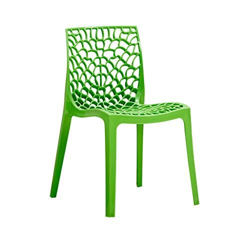 Dining Chair Hermosa silla simple escritorio de estudiante y silla de maquillaje taburete de computadora para el hogar fuerte (color: verde)