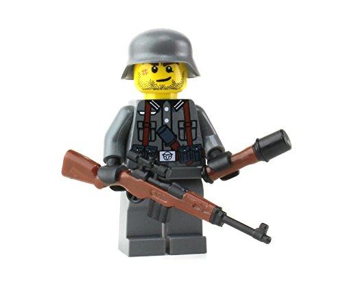 German G43 WW2 Soldier (SKU78)- Battle Brick Custom Minifigure