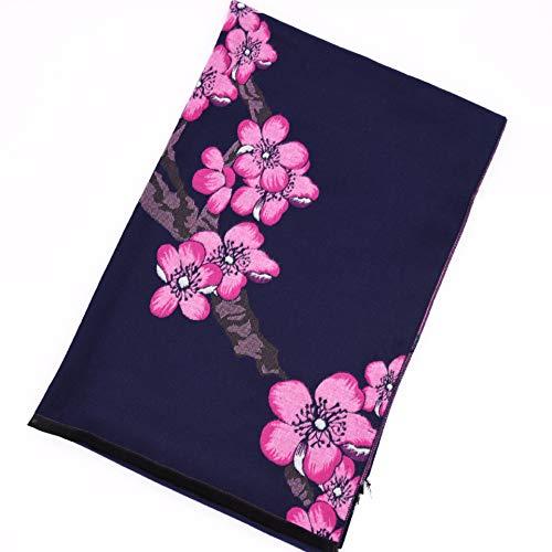 MCZWJ sjaal herfst en winter sjaal dames dikke warme dubbelzijdige dubbelzijdige bloemen bedrukt fluwelen sjaal vrouwelijke sjaal cadeau 70 cm x 190 cm