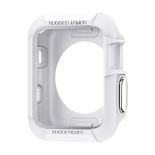 Spigen Rugged Armor Compatible con Apple Watch Funda para 42 mm Serie 3 / Serie 2/1 / Original (2015) - Blanco