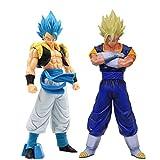 Qwead 2 Pezzi Dragon Ball Z Vegetto Gogeta Action Figure Giocattoli Super Saiyan 32 / 19Cm, Anime Dragon Ball Super Goku Vegeta Figurine Giocattolo da Collezione