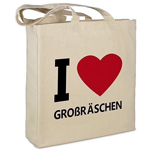 Farbe schwarz Jutebeutel Tasche Beutel Hipster Bag I love LANKWITZ