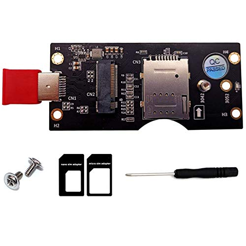 Fransande NGFF M.2 Chiavetta B a USB 3.0 Adattatore Riser Card con SIM 8Pin Slot Supporto Modulo 3G / 4G / 5G per PC desktop