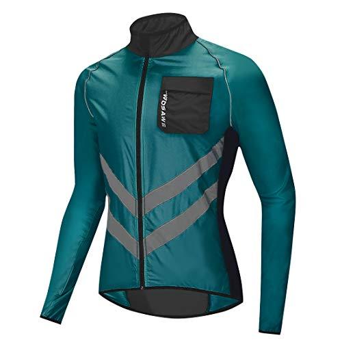 WOSAWE Fahrradjacke für Herren Damen Wasserdichte Ultraleichte Sportbekleidung Atmungsaktiv für Radfahren, Laufen, Wandern, Bergsteigen (BL218 Navy XL)