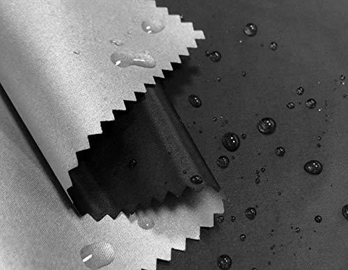 WellieSTR 1.1 yardas (1.5 m de ancho) delgado/ligero poliéster plata membrana compuesta tela de poliéster tela impermeable paraguas tienda Material tela toldo - negro