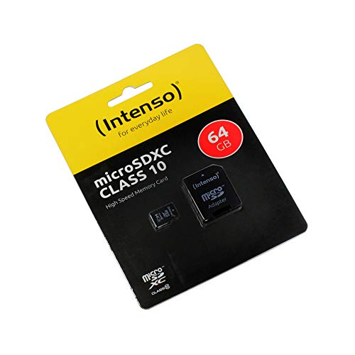 Mi A2 Lite, Scheda di memoria microSDXC 64GB, Class 10, High Speed, adattore SD