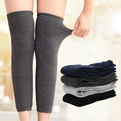 Haptian 1 paar Womens mannen kasjmier wol knie Warmers been warme dij hoge sokken legging