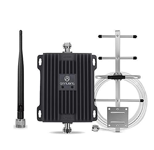 ANNTLENT Amplificador de señal de teléfono móvil gsm 3G LTE 4G multibanda para el hogar, Mejora la señal de teléfono móvil de Banda 20/8 800/900 MHz.