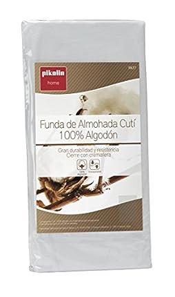 Pikolin Home - Pack de 2 fundas de almohada cutí, 100% algodón satén, 40x75cm (Todas las medidas)