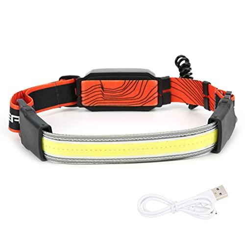 YIHEXUANkeji Faro de diadema luz USB recargable faro fácil de usar fácil de llevar D2 diadema al aire libre camping diadema lámpara